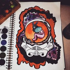 Maturitni work  #maturita#kouzelnyles#starwars#art#painting#watercolors#universe#trooper