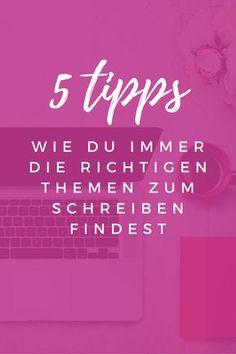 5 Tipps wie du die richtigen Themen zum Schreiben findest und besser in Suchmaschinen rankst