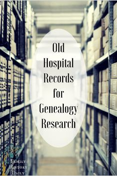 Do you use old hospital or asylum records in your genealogy research? Old medical records can reveal important details about members of your family tree. This article will teach you how to find them online for free. by elvia Free Genealogy Records, Free Genealogy Sites, Genealogy Forms, Genealogy Chart, Genealogy Research, Family Genealogy, Genealogy Humor