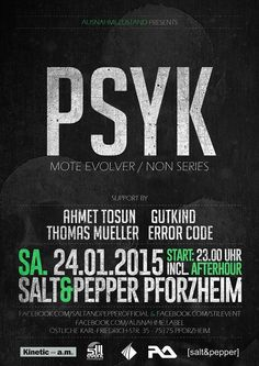 PSYK @ Salt & Pepper, Pforzheim