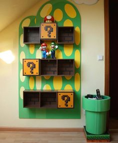 Muebles customizados de Super Mario Bros.
