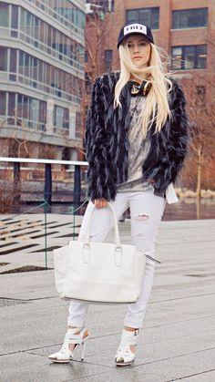 City Grunge: Teddy Coat & Crisp Whites – EVELINAS FASHION CAFE
