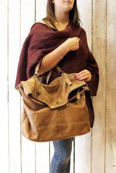 "MAIL BAG 2015"" Handmade Italian Leather Messenger Bag di LaSellerieLimited su Etsy"