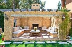 Image result for outside sitting area