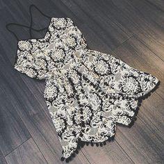 black and white summer mini dress