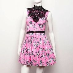 FLUO PINK FLORAL DRESS by alexandRA-IN winter!!!
