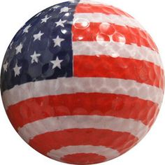 4th of July may be over but that doesn't mean that you can't rock this patriotic #golfball next time you're on the green! #USA #pinksandgreens