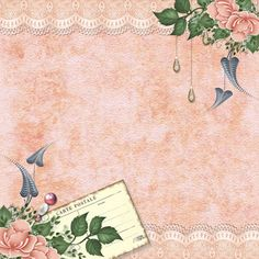 Bearly Mine Designs - borders with floral corner accents Papel Vintage, Shabby Vintage, Vintage Ephemera, Vintage Paper, Vintage Flowers, Shabby Chic, Vintage Art, Background Vintage, Paper Background