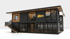 Next Container // Lokma on Behance Container Bar, Container Coffee Shop, Cargo Container Homes, Container Office, Shipping Container Home Designs, Shipping Container House Plans, Building A Container Home, Container Buildings, Container Architecture