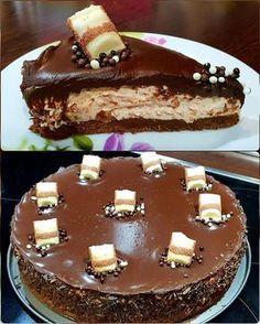Τούρτα Μπουένο !!! ~ ΜΑΓΕΙΡΙΚΗ ΚΑΙ ΣΥΝΤΑΓΕΣ 2 Greek Sweets, Greek Desserts, Party Desserts, Just Desserts, Delicious Desserts, Sweets Cake, Cupcake Cakes, Sweets Recipes, Cake Recipes