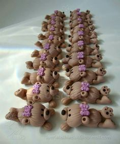 Lindos trabajos Baby Shawer, Fimo Clay, Pasta Flexible, Cold Porcelain, Gum Paste, Christening, Cupcake Cakes, Biscuits, Diy