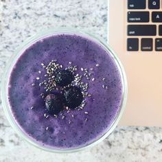 Breakfast is served   Your first meal on Monday sets the tone to eat well all week, make it a good one! Purple Magic Smoothie here, recipe is on my blog.  www.ElizabethRider.com/blog  #eatclean #healthy #recipe #healthcoach #breakfast