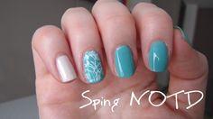Mint Nageldesign für den Frühling - Spring Nailart