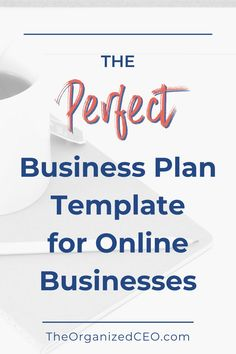 This business plan template was designed specifically for online business owners. It will help you learn how to write a business plan, what to include, and set the foundation for your small business. Online Business Plan, Writing A Business Plan, Business Plan Template, Business Planning, Business Tips, Make Money From Home, Way To Make Money, Spelling And Grammar, Business Organization