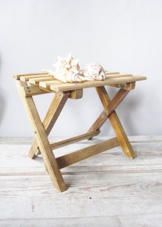 Wooden Folding Step Stool