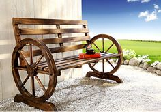 """Bench """"Cartwheel"""" - All About Cartwheel, Cannon, Diy Projects, House Design, Architecture, Bar Tops, Wood, Modern, Gardening"""