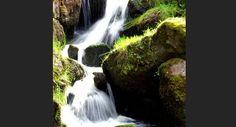 Chutes d'eau dans la commune de Lupersat, dans la Creuse, en France