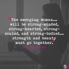 """Strength and beauty must go together"" -Louisa May Alcott #WednesdayWisdom #WomenWhoInspire http://www.sharpheels.com"