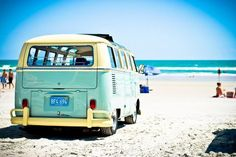 """VW on the beach. BBC Boracay says: """" Even a VW Van knows how to relax on the beach...."""""""