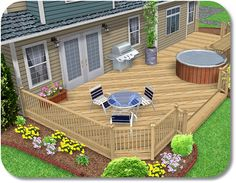 Landscape Design Software - Adding a Deck