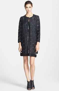 Milly Geometric Cocktail Coat available at #Nordstrom