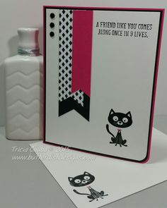 Day 16 of a Card a Day in May - ButterDish Designs, Stampin'Up, You Little Furball