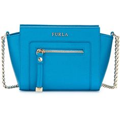Furla Ginerva Mini Leather Crossbody Bag (595 PEN) ❤ liked on Polyvore featuring bags, handbags, shoulder bags, turchese, leather cross body purse, mini crossbody purse, blue leather shoulder bag, crossbody purse and crossbody handbag