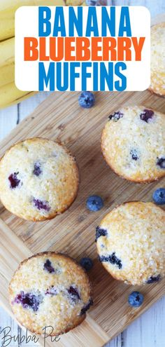 Banana Blueberry Muffins Ripe bananas and fresh blueberries team up to make this delicious recipes. Perfect for breakfast or dessert, these Banana Blueberry Muffins are quick and easy to make. I love them warm right out of the oven! Banana Recipes Easy, Banana Breakfast Recipes, Ripe Banana Recipe, Banana Dessert Recipes, Quick Easy Desserts, Blueberry Recipes, Breakfast Muffins, Banana Blueberry Muffins, Blue Berry Muffins