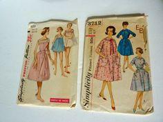 Shortie Gown Robe Patterns  Size 1416 Bust by BonniesVintageAttic, $11.95