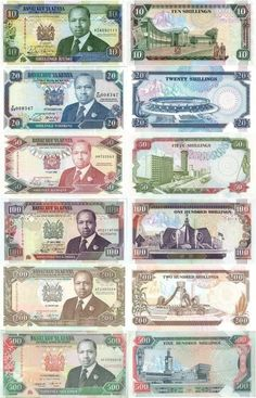 Kenyan Currency introduced 1988-1995.