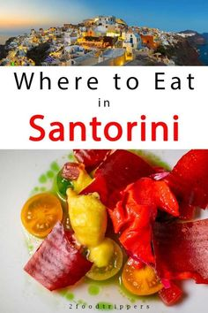 Wondering what and where to eat in Santorini, Greece? Check out our guide with the best Santorini restaurants at all price points. Santorini Hotels, Santorini Greece, Crete Greece, Athens Greece, Europe Travel Tips, European Travel, Travel Destinations, Travel Guide, Gelato Shop