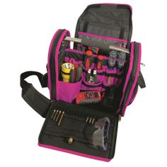 The Original Pink Box 14 in. Wide Open Tool Bag in Pink-DISCONTINUED-PB14WOTB at The Home Depot