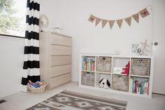 nursery, beige, white, storage + drawing man :)