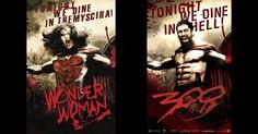 Portadas de comics y carteles de película – Wonder Woman en 300