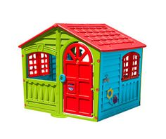 Palplay House of Fun indoor/outdoor play house. House of fun is design for just that, fun, every detail is sculpted into the frame providing the child the feel of a real house. for indoor or outdoor use Kids Indoor Playhouse, Outside Playhouse, Build A Playhouse, Wooden Playhouse, Playhouse Kits, Simple Playhouse, Outdoor Playhouses, Childrens Playhouse, Backyard Playhouse