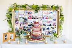Cake Table Photo Photograph Backdrop Pretty Fresh Summer Wedding http://www.charlotterazzellphotography.com/
