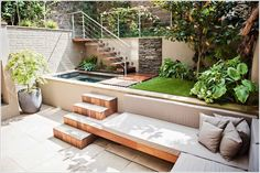 Landscape Designers, @ArchiDesiign offers helpful tips for unique ways to remodel and #design a #courtyard, such as designing it in two levels. Click the link for more creative ideas.