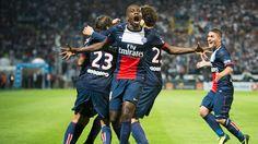 La joie de Blaise Matuidi (PSG) sur la pelouse de l'OM en Ligue 1 (2013)