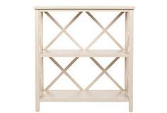 One Kings Lane - Surface Appeal - Hadley Open Bookcase, Distressed White