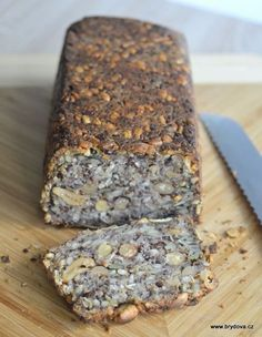 MN: Bread without flour, just seeds. Slovak Recipes, Czech Recipes, Raw Food Recipes, Low Carb Recipes, Sweet Recipes, Snack Recipes, Cooking Recipes, Snacks, Savoury Baking