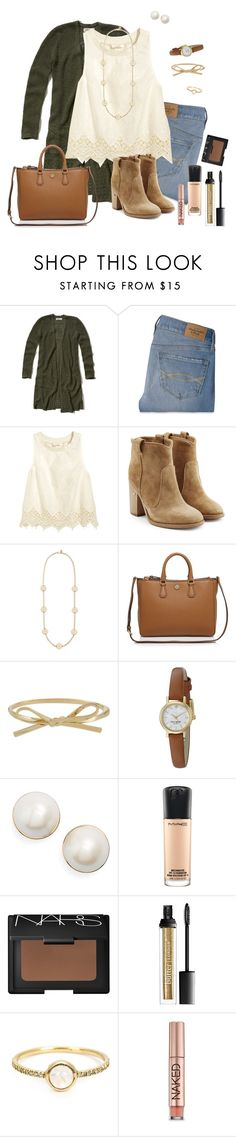 """LAURA BECCA"" by southrnblle ❤ liked on Polyvore featuring Hollister Co., Abercrombie & Fitch, H&M, Laurence Dacade, Tory Burch, Kate Spade, MAC Cosmetics, NARS Cosmetics, Irene Neuwirth and Urban Decay"