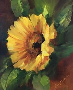 Star's Reach Sunflower by Texas Artist Nancy Medina, painting by artist Nancy Medina