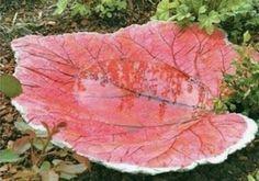 Leaf Stone Bird Bath
