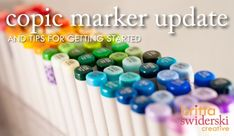 about my growing copic collection and a handy PDF for beginning copic colorers via brittaswiderski.com