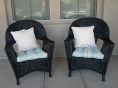 Marin's Creations: Wicker Patio Chairs...Before and After