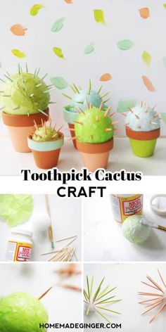 Diy Projects For Kids, Diy Home Decor Projects, Easy Crafts For Kids, Crafts To Sell, Diy For Kids, Fun Crafts, Wood Crafts, Toothpick Crafts, Halloween Crafts