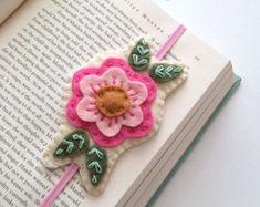 Felt Bookmark Hand Embroidered Bookmark Teacher by LoveMaude