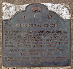 279: Site of Estudillo Home in San Leandro, California