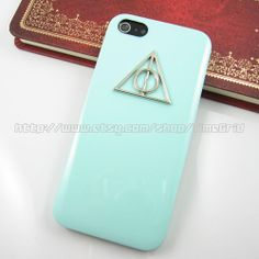 Green iphone 5 case,Harry Potter Deathly Hallows iphone 5 case,hard cover skin case for iphone 5 case on Etsy, $6.99