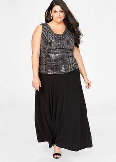 b6f4d49585 Printed Faux Wrap Maxi Dress